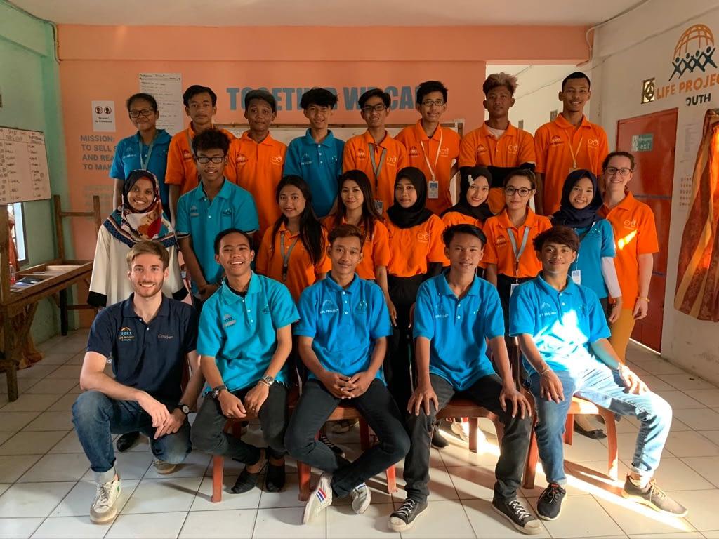 les jeunes de LP4Y Jakarta