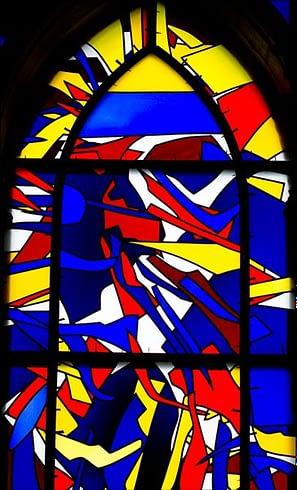 Détail d'un vitrail d'Imi Knoebel